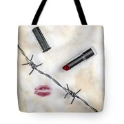 Dangerous Kisses Tote Bag by Joana Kruse