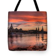 Dresden Sunset Tote Bag by Steffen Gierok