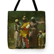 Dressing For The Carnival Tote Bag by Winslow Homer
