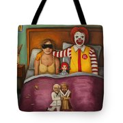 Fast Food Nightmare Tote Bag by Leah Saulnier The Painting Maniac