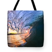 Fire And Ice Tote Bag by Sean Davey