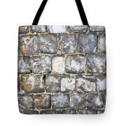 Flint Stone Wall Tote Bag by Tom Gowanlock