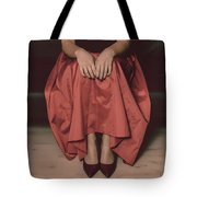 Girl On Black Sofa Tote Bag by Joana Kruse