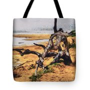 Gnarly Tree Tote Bag by Barbara Snyder