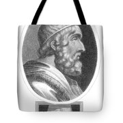 Homer, Ancient Greek Epic Poet Tote Bag by Photo Researchers