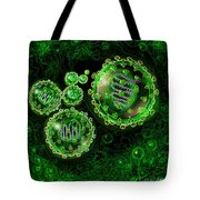 Illustration Of Sars Virus Tote Bag by Jim Dowdalls
