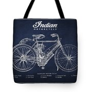 Indian motorcycle Tote Bag by Aged Pixel