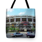 Jacobs Field - Cleveland Indians Tote Bag by Frank Romeo