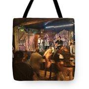 Keri Leigh Singing At Schmitt's Saloon Tote Bag by Dan Friend