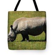 Lake Nakuru White Rhinoceros Tote Bag by Aidan Moran
