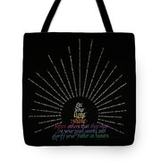 Light Shine Tote Bag by Judy Dodds