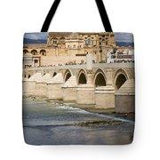 Mezquita and Roman Bridge in Cordoba Tote Bag by Artur Bogacki