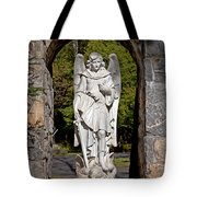 Michael Defeats Lucifer Tote Bag by Terry Reynoldson