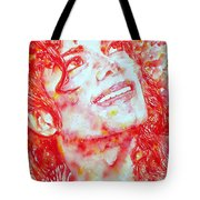 Michael Jackson - Watercolor Portrait.2 Tote Bag by Fabrizio Cassetta