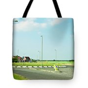 Modern Road Tote Bag by Tom Gowanlock