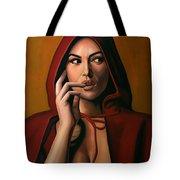 Monica Bellucci Tote Bag by Paul Meijering