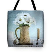 Moody Blue Tote Bag by Betty LaRue