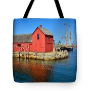 Motif Number One Rockport Lobster Shack Maritime Tote Bag by Jon Holiday