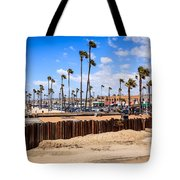 Newport Beach Dory Fishing Fleet Market Tote Bag by Paul Velgos