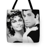 Olivia Newton John And John Travolta In Grease Collage Tote Bag by Tony Rubino