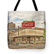 On The Corner Tote Bag by Scott Pellegrin