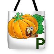 P Art Alphabet For Kids Room Tote Bag by Irina Sztukowski