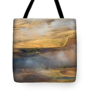 Patterns Of The Land Tote Bag by Mike  Dawson