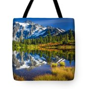 Picture Lake Tote Bag by Inge Johnsson