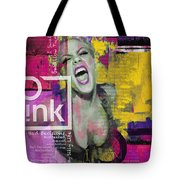 Pink Tote Bag by Corporate Art Task Force