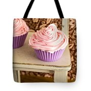 Pink Cupcakes Tote Bag by Edward Fielding