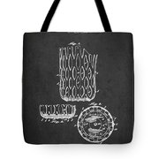 Poll Table Pocket Patent Drawing From 1916 Tote Bag by Aged Pixel