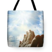 Prayer Tote Bag by Les Cunliffe