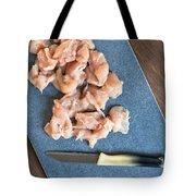 Raw Chicken Tote Bag by Tom Gowanlock