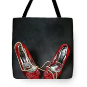red shoes Tote Bag by Joana Kruse