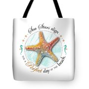 Sea Stars Align For A Perfect Day At The Beach Tote Bag by Amy Kirkpatrick