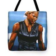 Serena Williams Tote Bag by Paul Meijering