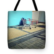 Shopping Trolleys  Tote Bag by Les Cunliffe