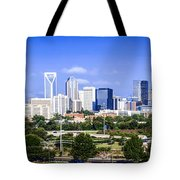 Skyline Of Uptown Charlotte North Carolina Tote Bag by Alex Grichenko
