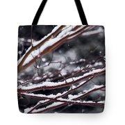 Snowfall And Tree Tote Bag by Elena Elisseeva