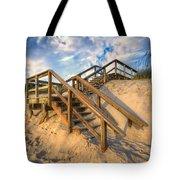 Stairway To Heaven Tote Bag by Debra and Dave Vanderlaan