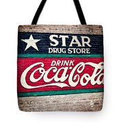 Star Drug Store Wall Sign Tote Bag by Scott Pellegrin