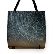 Star Trails 1 Tote Bag by Benjamin Reed