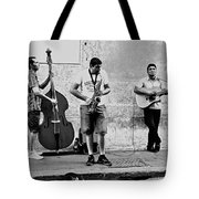 Street Musicians Of Rome Tote Bag by Mountain Dreams