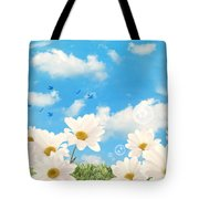 Summer Daisies Tote Bag by Amanda And Christopher Elwell