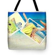 Summer Postcards Tote Bag by Amanda Elwell