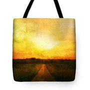 Sunset Road Tote Bag by Brett Pfister