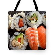 Sushi Tote Bag by Les Cunliffe
