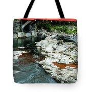 Taftsville Covered Bridge Vermont Tote Bag by Edward Fielding