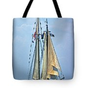 Tall Ship Harvey Gamage Tote Bag by Skip Willits