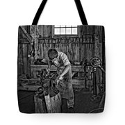 The Apprentice Monochrome Tote Bag by Steve Harrington